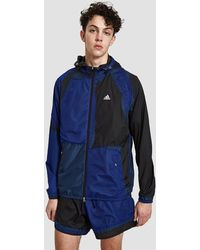 adidas Originals - Hooded Patchwork Decon Wind Jacket In Black - Lyst