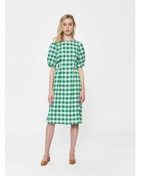 Farrow - Valerie Plaid Tie-back Dress - Lyst