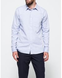 Apolis - Washed Oxford Button Down In Light Blue - Lyst