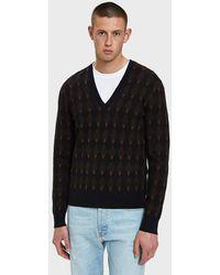 Dries Van Noten - V-neck Sweater In Navy - Lyst