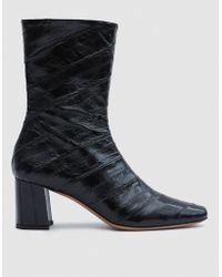 Trademark | Mira Eel Skin Boot In Black | Lyst