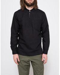 Our Legacy - Black Shawl Zip Shirt - Lyst