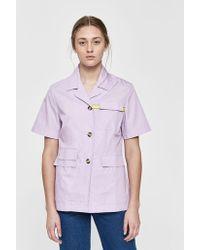 AALTO - Basic Short Sleeve Button Up Shirt - Lyst