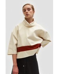 Ashley Rowe - Red And White Turtleneck - Lyst