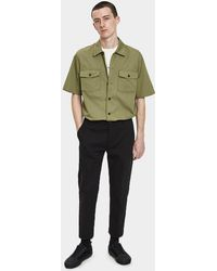 Our Legacy - Chamois Short Sleeve Shirt In Olive Tactic Twill - Lyst