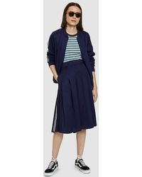 Stussy - Sloane Track Skirt In Navy - Lyst