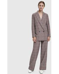 Ganni Women's Suiting Plaid Trouser - Multicolor