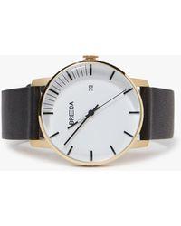 Breda - Phase Watch - Gold/black - Lyst