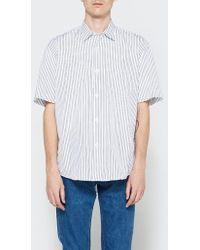 Our Legacy - Initial Sl Shirt Blue Classic Stripe - Lyst