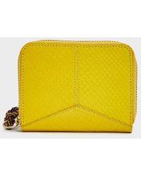 Dries Van Noten - Compact Embossed Leather Wallet - Lyst