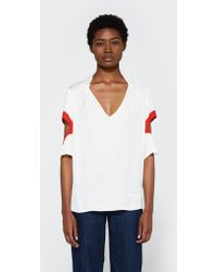 Frankie - Cut Out Sleeve Blouse - Lyst