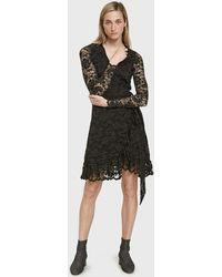 Ganni - Flynn Lace Wrap Dress - Lyst