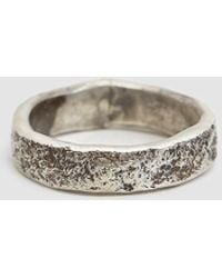 Cause and Effect - Textured Silver Ring - Lyst