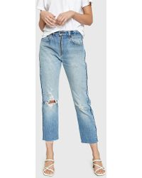 RE/DONE - Levi's High Rise Relaxed Zip Crop Jean - Lyst