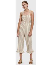 Farrow - Jaime Striped Cotton Jumpsuit - Lyst