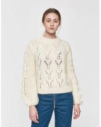 8087ec211d0 Ganni Julliard Mohair Sweater in Yellow - Lyst