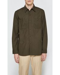 Beams Plus - Poplin Usn Long Sleeve Shirt - Lyst