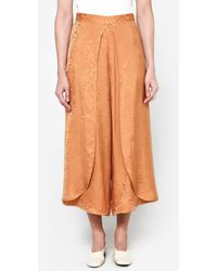 Rodebjer | Nola Jacquard Pant In Burnt Sand | Lyst