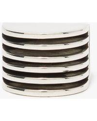 AGMES - Wide Silver Boeri Ring - Lyst