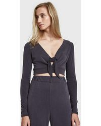 Which We Want - Sondra Front Tie Top - Lyst
