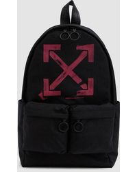 Off-White c/o Virgil Abloh - Stenciled Canvas Backpack - Lyst