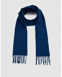 Norse Projects | Norse X Johnstons Lambswool Scarf In Sodalite | Lyst