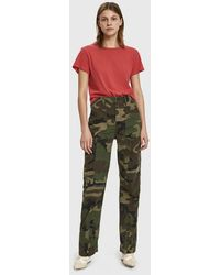 RE/DONE - Camo Skinny Cargo Pants - Lyst