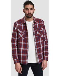 Obey - Seattle Jacket Shirt In Red Multi - Lyst