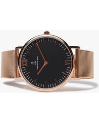 KAPTEN & SON - Campus Black Mesh Watch - Lyst