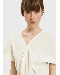 Black Crane - Two Panels Top In Cream - Lyst