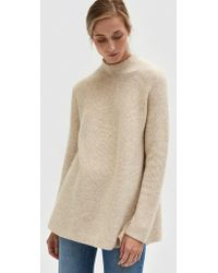 Achro Side Slit Whole Garment Pull Over - Natural