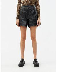 Ganni Women's Lamb Leather Short - Black