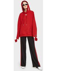 Collina Strada | Earring Hoodie In Apple Red | Lyst
