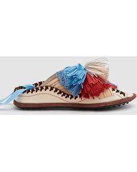 Carven - Berri Lace-up Slip On Sandal - Lyst