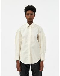 Low Classic Women's Oversleeve Button Up Shirt - White