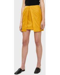 AALTO - Mini Skirt In Yellow - Lyst