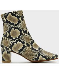 BY FAR Women's Sofia Boot In Snake, Size 39 | Leather - Black