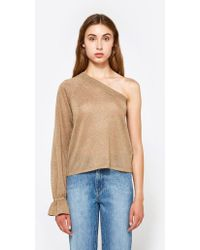 VEDA - Balance Top In Gold - Lyst