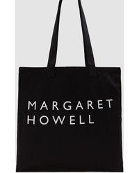 Margaret Howell - Twill Logo Bag In Black - Lyst