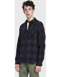 Rogue Territory - Bm Shirt In Grey Quilted Plaid - Lyst