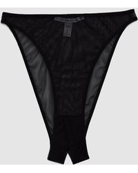 The Great Eros - Canova Ouvert Mesh Panty In Black - Lyst