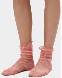 Rachel Comey - Hynde Tulle Socks In Pink - Lyst