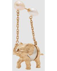 Carven - Single Elephant Earring - Lyst