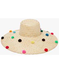 Nannacay Brazil Hat Pompom - Multicolor