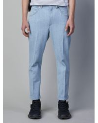 Neil Barrett - Stonewashed Denim Loose Jeans - Lyst