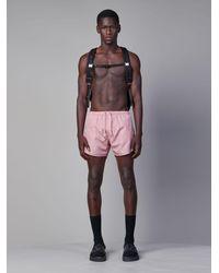 Neil Barrett All-over Thunderbolt Swim Shorts - Pink