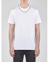 Neil Barrett Minimalist Jersey T-shirt With Necklace - White