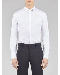 Neil Barrett Tuxedo Popeline Shirt With Necklace - White