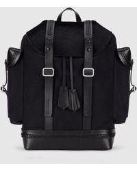 Neil Barrett Pony Hair & Canvas Heritage Backpack - Black