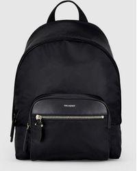 Neil Barrett Embossed Thunderbolt Leather Backpack - Black